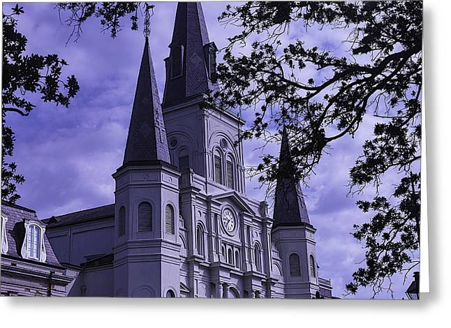 St. Louis Cathedral Greeting Cards - New Orleans Cathedral Greeting Card by Garry Gay