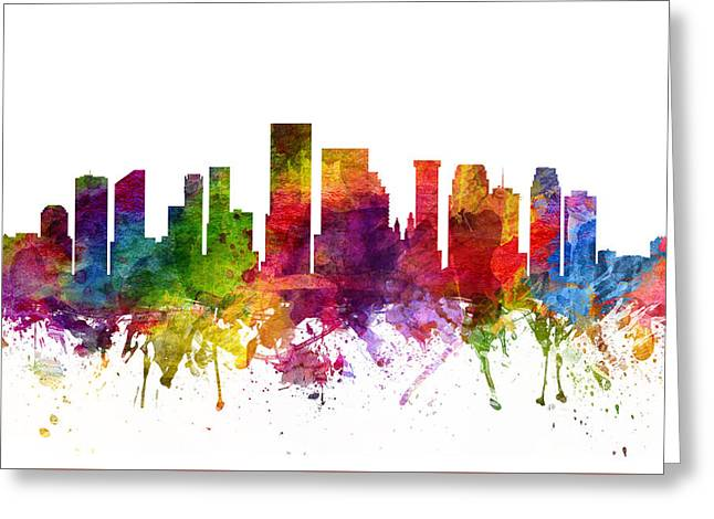New Orleans Cityscape 06 Greeting Card by Aged Pixel