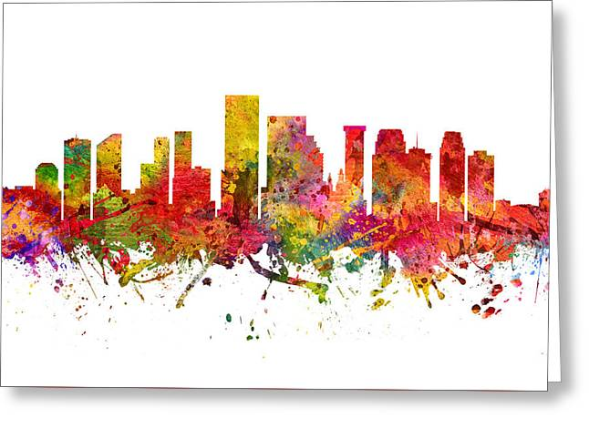 New Orleans Cityscape 08 Greeting Card by Aged Pixel