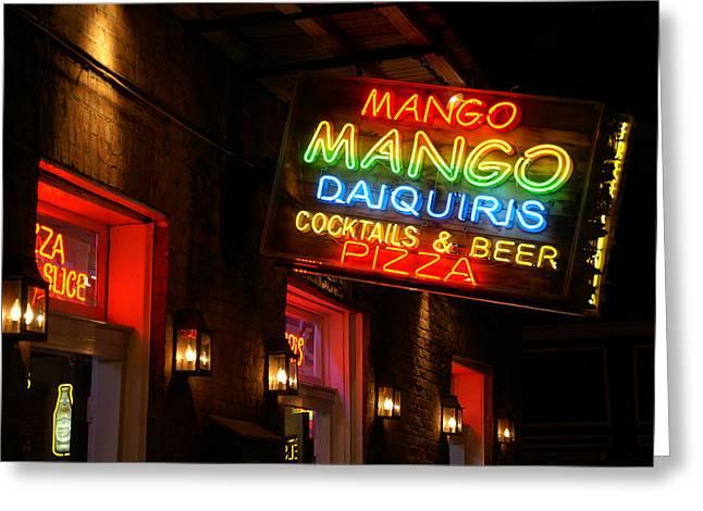 New Orleans Daiquiris Greeting Card by Peter Verdnik