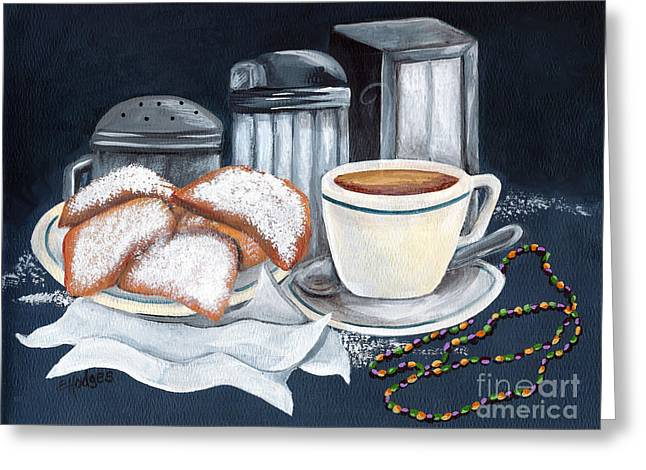 New Orleans Favorites Greeting Card by Elaine Hodges