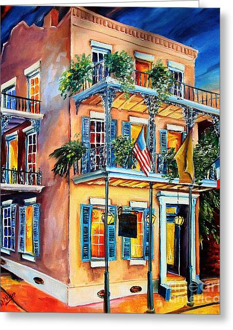Historical Buildings Greeting Cards - New Orleans La Fittes Guest House Greeting Card by Diane Millsap