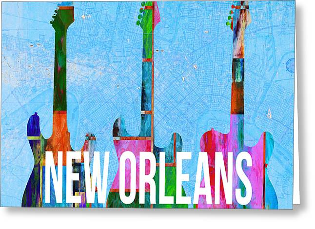 New Orleans Music Scene Greeting Card by Edward Fielding