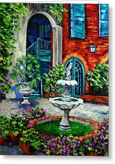 New Orleans Painting Brulatour Got A Penny Greeting Card by Beata Sasik