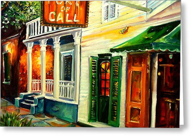 New Orleans Port of Call Greeting Card by Diane Millsap