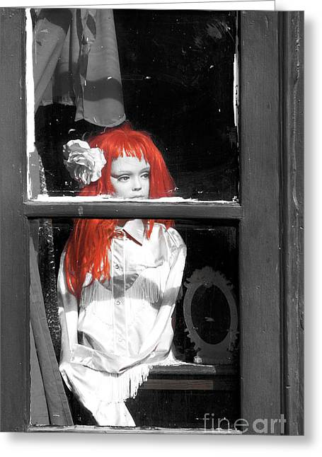 Photo Art Gallery Greeting Cards - New Orleans Red Haired Girl Fusion Greeting Card by John Rizzuto