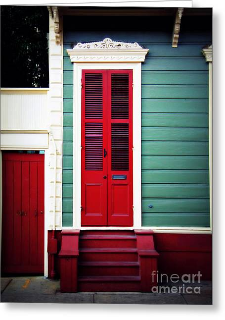 Recently Sold -  - Historical Pictures Greeting Cards - New Orleans Red Greeting Card by Perry Webster