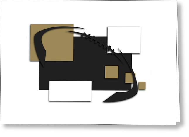 New Orleans Saints Greeting Cards - New Orleans Saints Abstract Shirt Greeting Card by Joe Hamilton