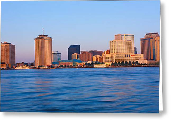 Mississippi River Scene Greeting Cards - New Orleans Skyline From Algiers Point Greeting Card by Panoramic Images