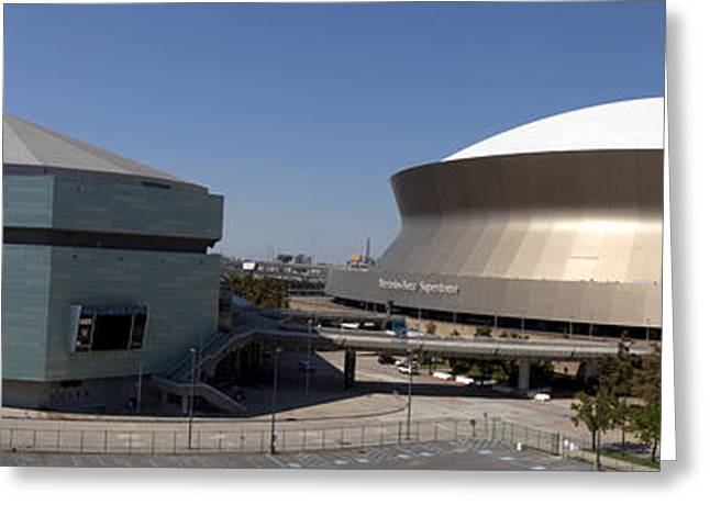 Basketballs Greeting Cards - New Orleans Sports and Entertainment Complex Greeting Card by Anthony Totah