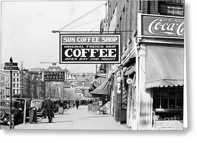 New Orleans: Street, 1935 Greeting Card by Granger