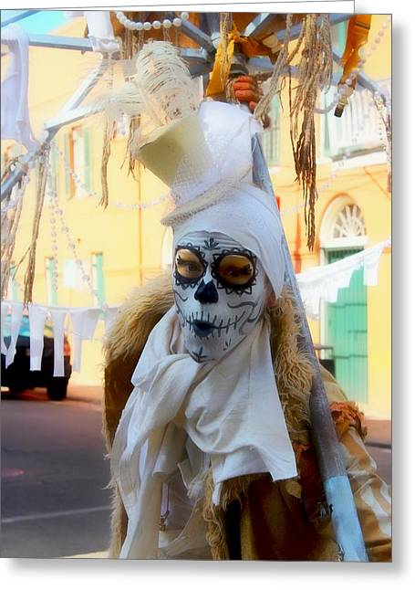 New Orleans Voodoo Man Greeting Card by Barbara Chichester