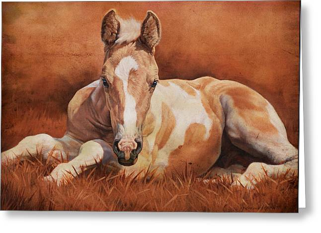 Stable Greeting Cards - New Paint Greeting Card by JQ Licensing