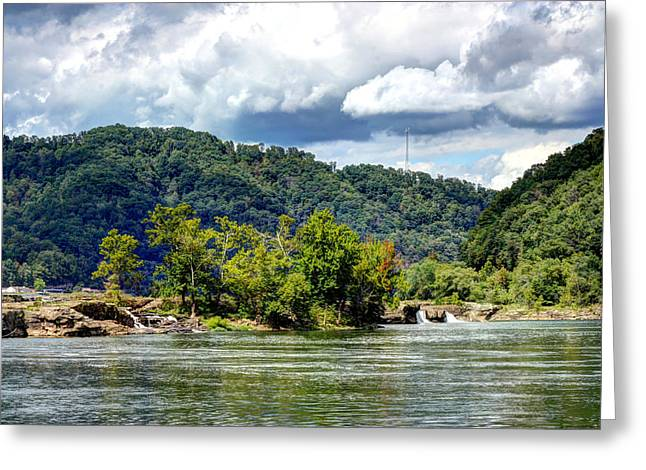New River At Kanawa Falls Greeting Card by Angela Comperry