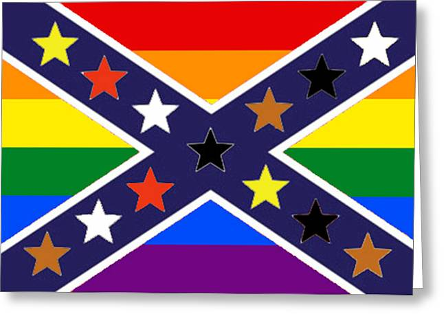 Confederate Flag Greeting Cards - New South Greeting Card by Steve Caunce