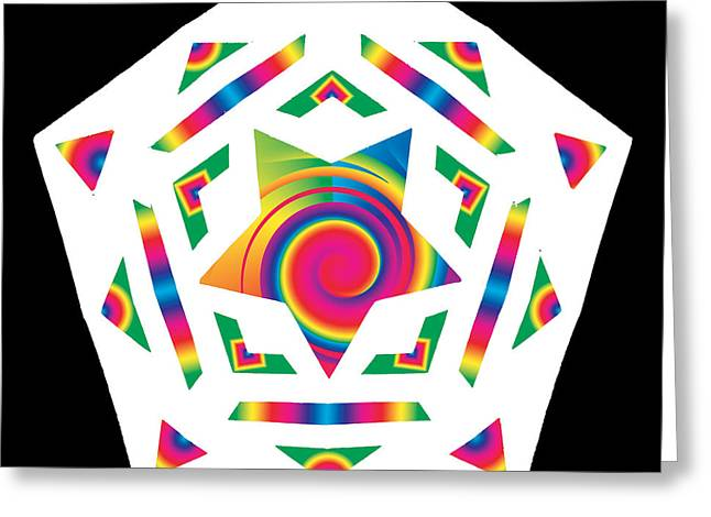 Chromatic Greeting Cards - New Star 2a Greeting Card by Eric Edelman