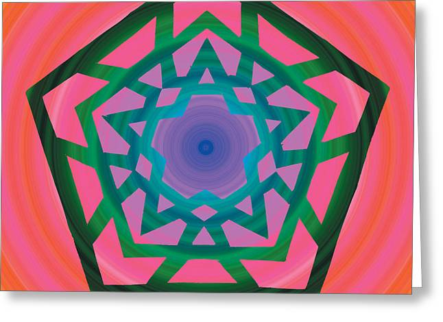 Chromatic Digital Greeting Cards - New Star 4e Greeting Card by Eric Edelman