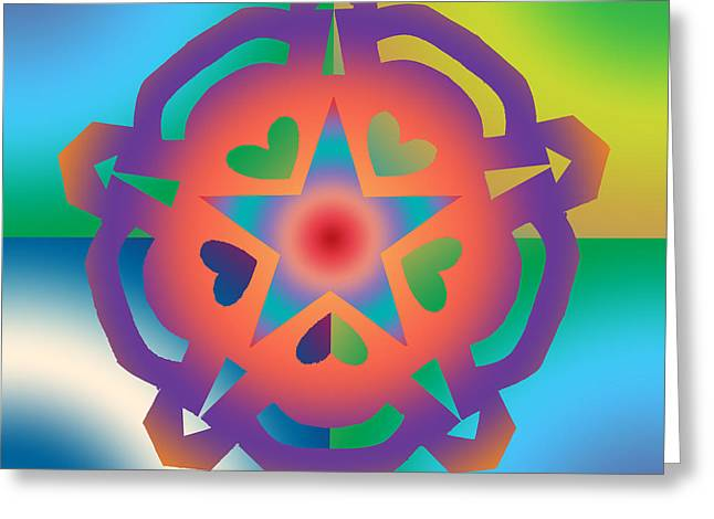 Chromatic Digital Greeting Cards - New Star 6a Greeting Card by Eric Edelman