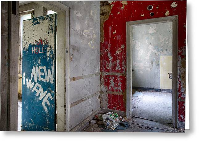 Red School House Greeting Cards - New Wave - Abandoned Building Greeting Card by Dirk Ercken