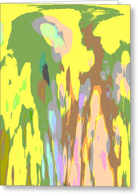 Green Abstract Greeting Cards - New World Greeting Card by Marianna Mills