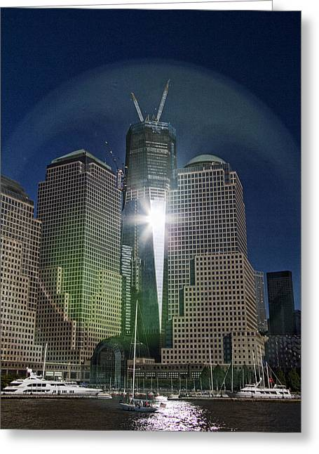 Ground Zero Greeting Cards - New World Trade Center Greeting Card by David Smith