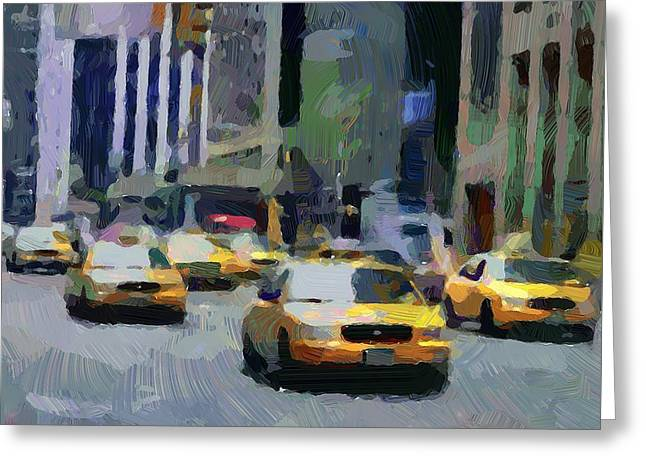 Live Art Greeting Cards - New York 01 Greeting Card by Yury Malkov