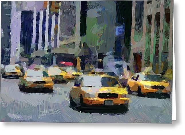 City Art Greeting Cards - New York 01 Greeting Card by Yury Malkov