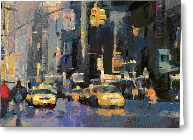 City Art Greeting Cards - New York 02 Greeting Card by Yury Malkov