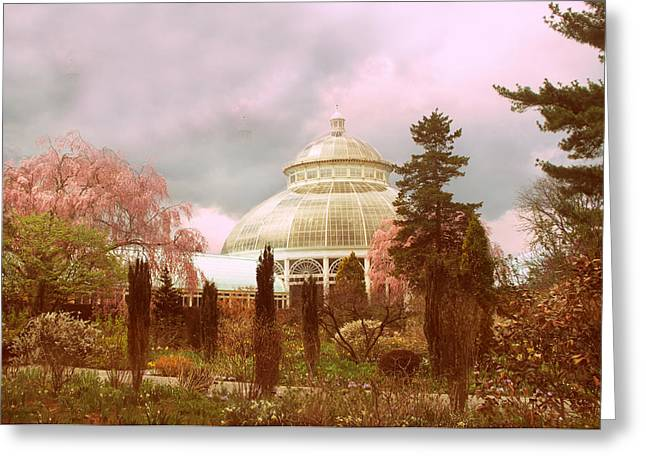Conservatory Greeting Cards - New York Botanical Garden Greeting Card by Jessica Jenney