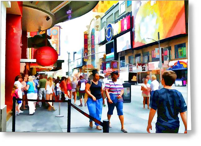 Car Part Paintings Greeting Cards - New York City 7 Greeting Card by Lanjee Chee