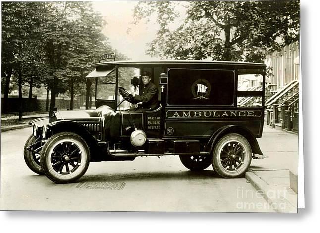 New York City Ambulance Greeting Card by Jon Neidert