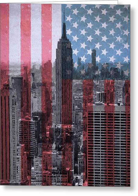 New York City American Pride Greeting Card by Dan Sproul