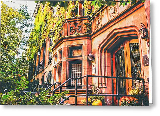 Townhouses Greeting Cards - New York City Autumn Greeting Card by Vivienne Gucwa