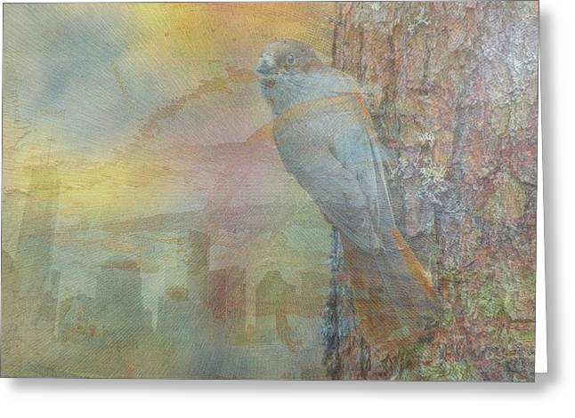 The Horse Greeting Cards - New York City Bird-Day Greeting Card by Vincent Messelier