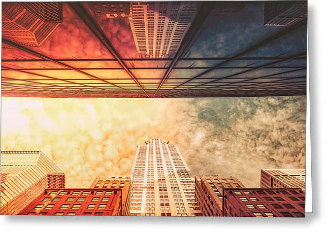 Science Fiction Art Greeting Cards - New York City - Chrysler Building Greeting Card by Vivienne Gucwa