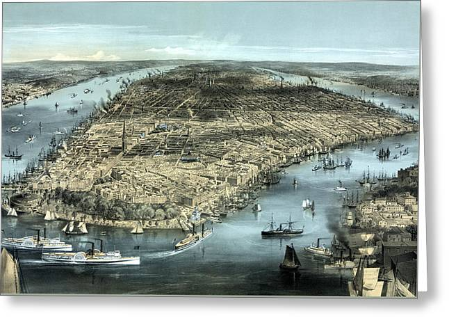 New York City Circa 1850 Greeting Card by War Is Hell Store