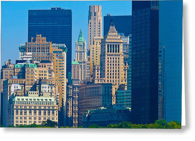New York City Greeting Card by Douglas J Fisher