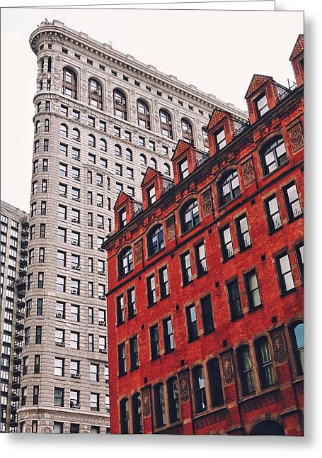 Architecture Greeting Cards - New York City - Flatiron Building Greeting Card by Vivienne Gucwa