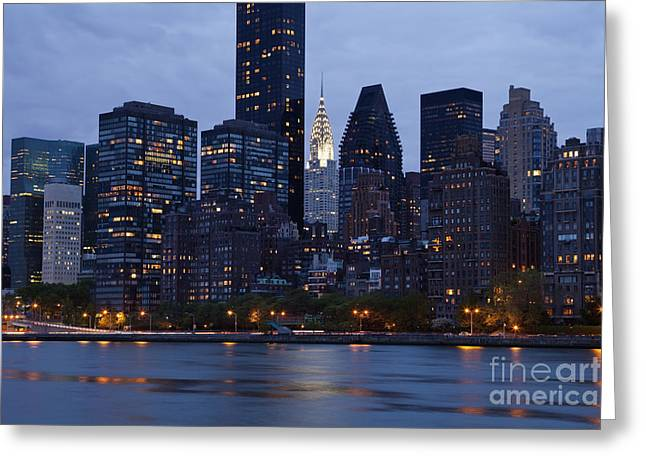 Height Greeting Cards - New York City From Across the Water Greeting Card by Bryan Mullennix