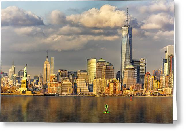 New York City Icons II Greeting Card by Susan Candelario