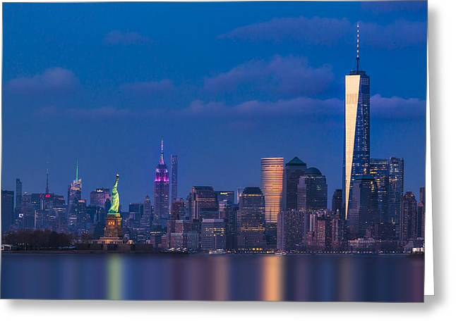 New York City Icons Greeting Card by Susan Candelario