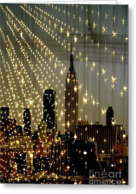 Surtex Licensing Greeting Cards - New York City Lights Greeting Card by Anahi DeCanio - ArtyZen Studios