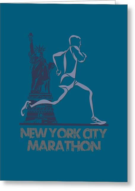 Nike Greeting Cards - New York City Marathon3 Greeting Card by Joe Hamilton