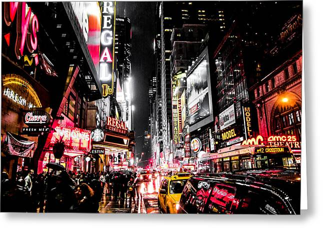 New York City Night II Greeting Card by Nicklas Gustafsson
