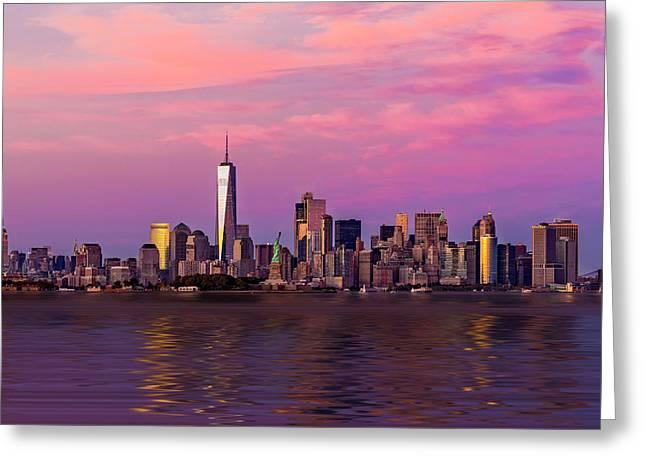 New York City Nyc  Landmarks Greeting Card by Susan Candelario