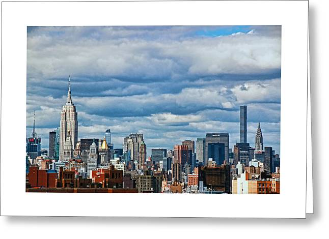 Famous Bridge Greeting Cards - New York City Skyline Greeting Card by Allen Beatty