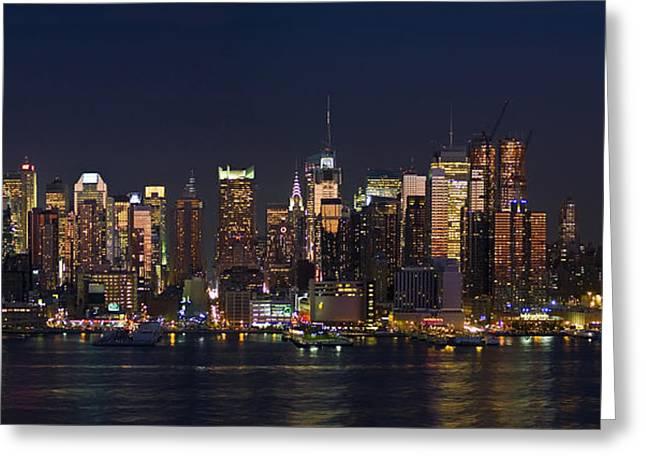 Andrew Kazmierski Greeting Cards - New York City Skyline Panorama 2008 Greeting Card by Andrew Kazmierski