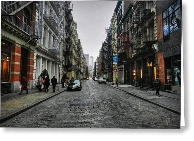 New York City - Soho 003 Greeting Card by Lance Vaughn