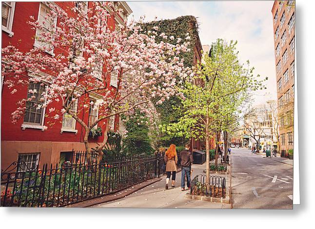 New York Photo Greeting Cards - New York City - Springtime - West Village Greeting Card by Vivienne Gucwa