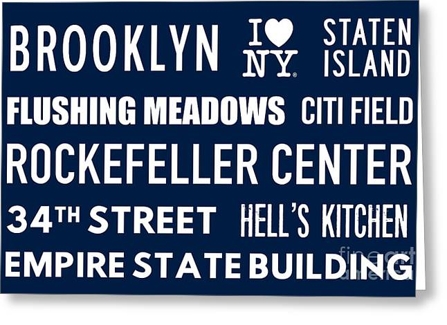New York City Subway Sign Typography Art 18 Greeting Card by Nishanth Gopinathan